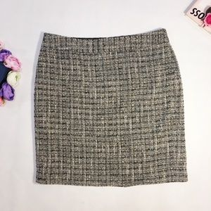 Ann Taylor Gray tweed mini skirt petite size 14P